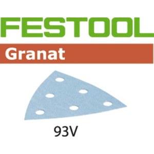 Smilšpapīrs deltveida slīpmašīnām Granat; 93 V; P80; 50 gab.