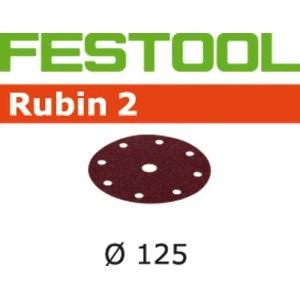 Smilšpapīrs ekscentra slīpmašīnai Rubin2; 125 mm; P150; 10 gab.
