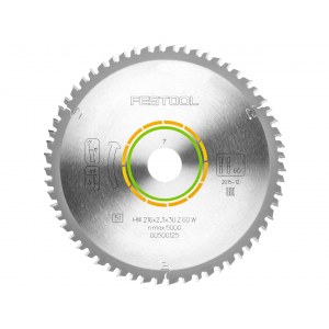 Пильный диск по дереву Festool 216x2,3x30 W60