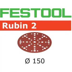 Smilšpapīrs ekscentra slīpmašīnai Festool STF 150 mm; 48; P60; RU2; 10 gab.