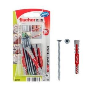 Tapa ar skrūvi Fisher 537664; 8x65 mm; 4 gab.