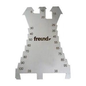 Marķēšanas plāksne / griezējs Freund; 5-100 mm