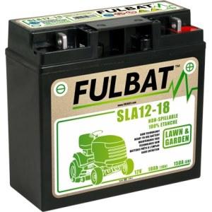 Akumulators zāliena traktoriem Fulbat SLA12-18; 12 V; 18 Ah ar gēlu, der Stiga, Alpina, Castelgarden