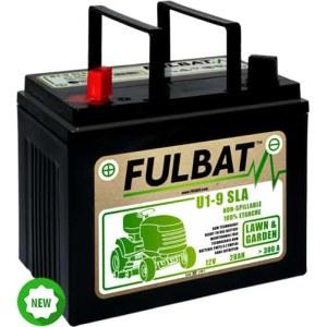 Akumulators zāliena traktoriem Fulbat U1-9 SLA; 12 V; 28 Ah piemērots Husqvarna, Partner, McCulloch