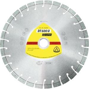 Dimanta griešanas disks sausai griešanai Klingspor DT 600 U Supra; 300x2,8x25,4 mm