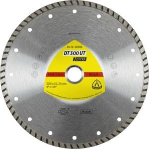 Dimanta griešanas disks mitrai griešanai Klingspor DT 300 UT Extra; 230x2,5x22,23 mm