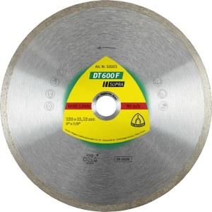 Dimanta griešanas disks mitrai griešanai Klingspor DT 600 F Supra; 200x1,9x30,0 mm
