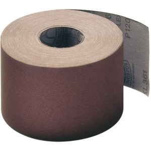 Smilšpapīra rullis Klingspor; KL 361 JF; 120x50000 mm; K120; 1 gab.