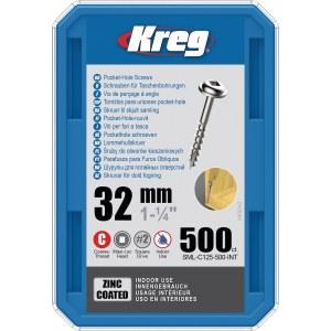 Koka skrūve Kreg SML-C125; Maxi-Loc; 1,25''; 32 mm; 500 gab. liels pavediens