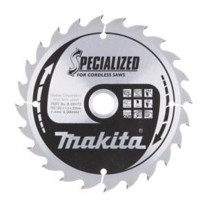 Griešanas disks kokam Makita; 165x1,5x20,0 mm; Z24; 20°
