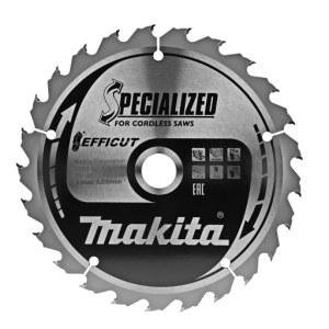 Griešanas disks kokam Makita EFFICUT; 165x1,4x20,0 mm; Z25; 23°