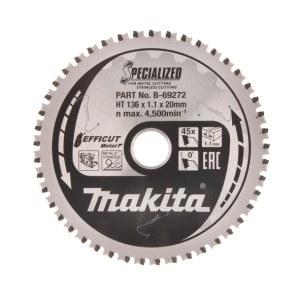 Griešanas disks metālam Makita Efficut; 136x20x1,1 mm; Z45