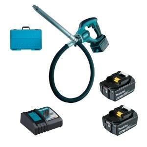 Betona vibrators Makita DVR450RTE; 18 V; 2x5,0 Ah akum.