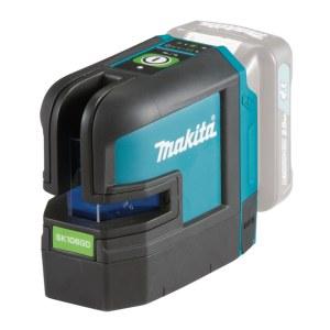Krustveida lāzera nivelieris Makita SK106GDZ; 10,8 V zaļš (bez akumulatora un lādētāja)