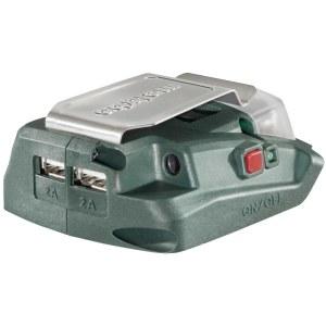 Adapteris lādēšanai ar USB savienojumu Metabo PA 14,4 – 18 V -> USB (x2); Tālruņa akumulatoru uzlādēšanai