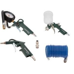 Kompresora instrumentu komplekts krāsošanai un pūšanai Metabo LPZ 4 Set