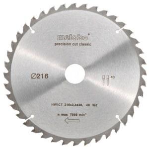 Griešanas disks kokam Metabo Classic;  Ø216 mm