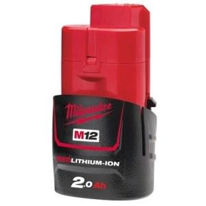 Akumulators Milwaukee M12 B2; 12 V; 2,0 Ah; Li-Ion (bez iepakojuma)