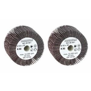Loksnīšu slīpēšanas disks Proxxon; 50 mm; K80; 2 gab.
