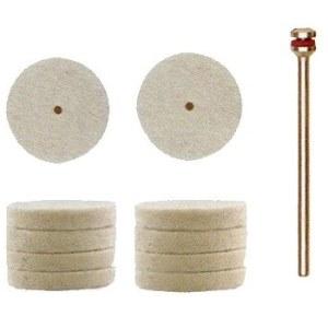 Aitas vilnas pulēšanas disks Proxxon; 22 mm; 10 gab.