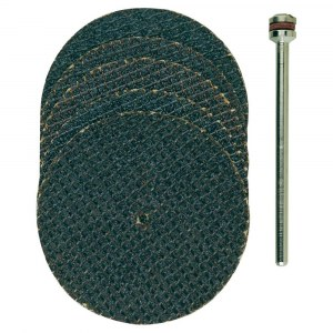 Stiprināts slīpēšanas disks Proxxon; 38 mm; 5 gab.