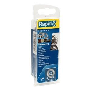Kniedes Rapid 5000412; 21 mm; 10 mm; 25 gab.