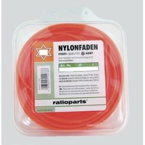 Aukla trimmerim Nylon line (1,6 mm/15 m) sarkana, 6-stūru