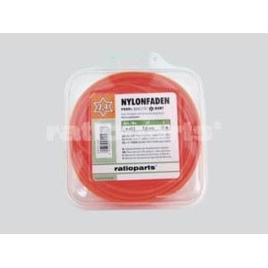 Aukla trimmerim Nylon line (2,0 mm/15 m) oranža; seškanšu