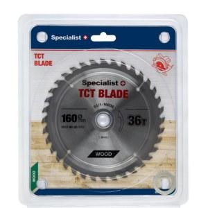 Griešanas disks kokam Specialist Wood; 160x1,4x30/20/16 mm; Z36