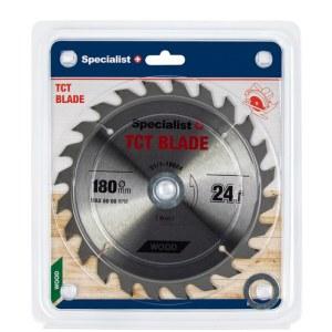 Griešanas disks kokam Specialist Wood; 180x1,4x30/20/16 mm; Z24