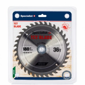 Griešanas disks kokam Specialist Wood; 180x1,4x30/20/16 mm; Z36
