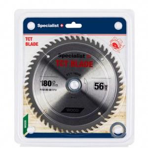 Griešanas disks kokam Specialist Wood; 180x1,4x30/20/16 mm; Z56