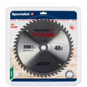 Griešanas disks kokam Specialist Wood; 200x1,4x30/20/16 mm; Z48