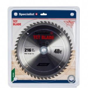 Griešanas disks kokam Specialist Wood; 216x1,4x30/20/16 mm; Z48