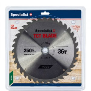Griešanas disks kokam Specialist Wood; 250x1,8x30/20 mm; Z36