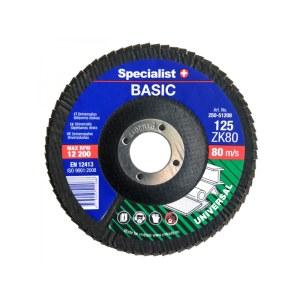 Lāpstveida slīpēšanas disks Specialist 250-51206; 125 mm; ZK60