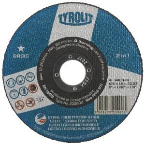 Abrazīvais griešanas disks Tyrolit A 30 BF; 125x2,5 mm; 1 gab.